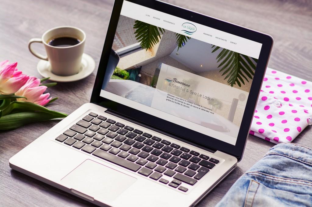 Institut & Spa Le Lagon - Création Site internet Logo Communication Flyer