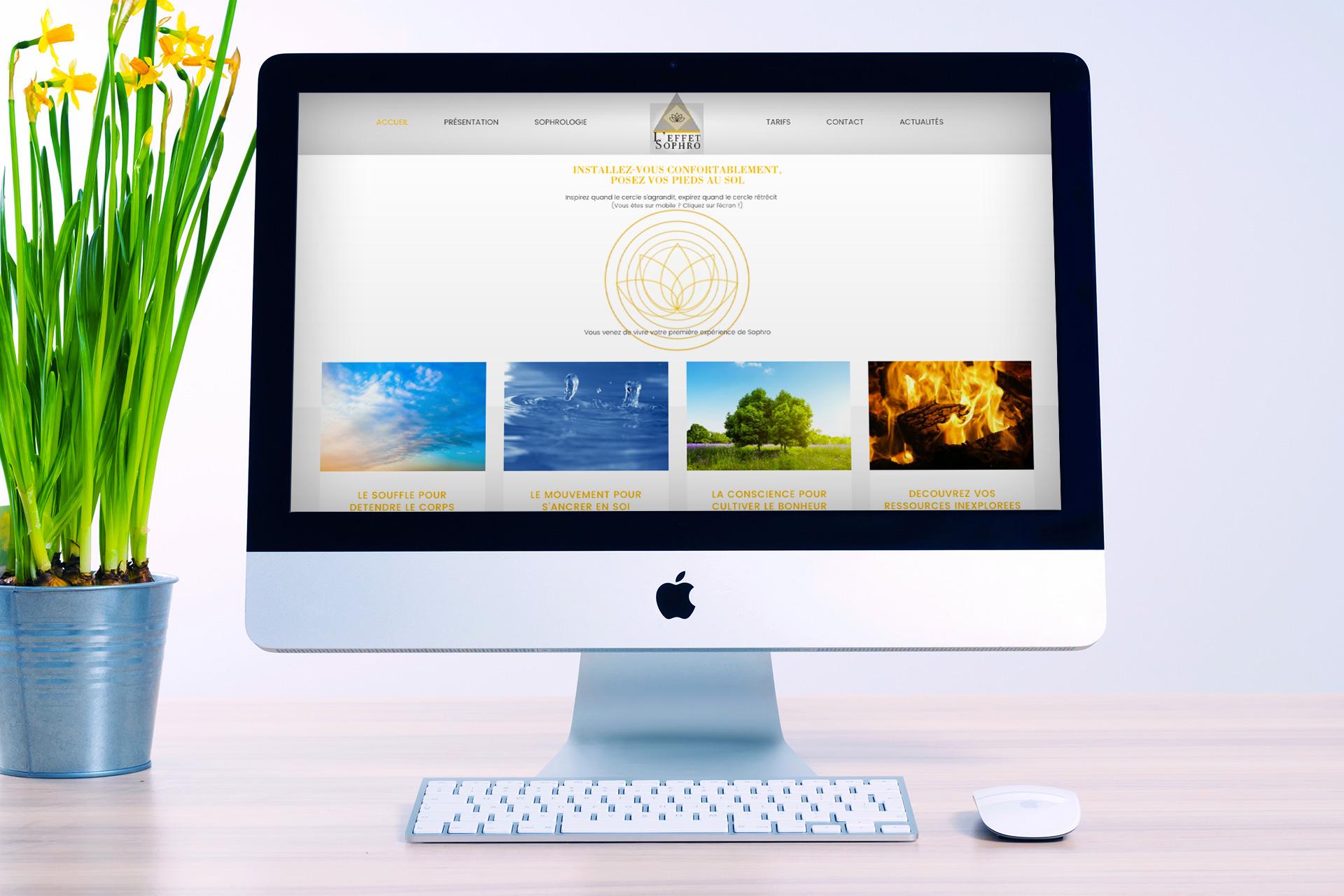 L'Effet Sophro - Création Site internet Logo Communication Flyer