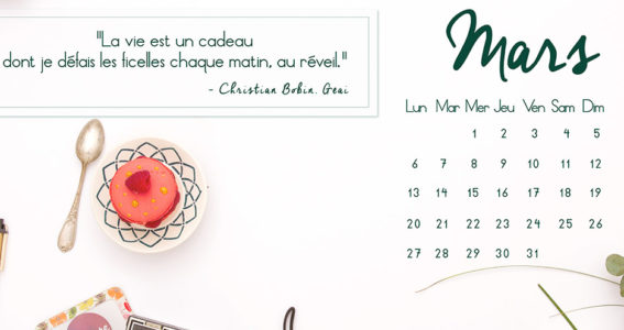 Fond d'écran Calendrier Mars 2017 Capture Communication