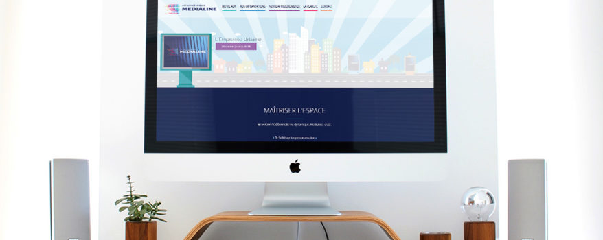 Medialine - Gréation Site internet Logo Communication