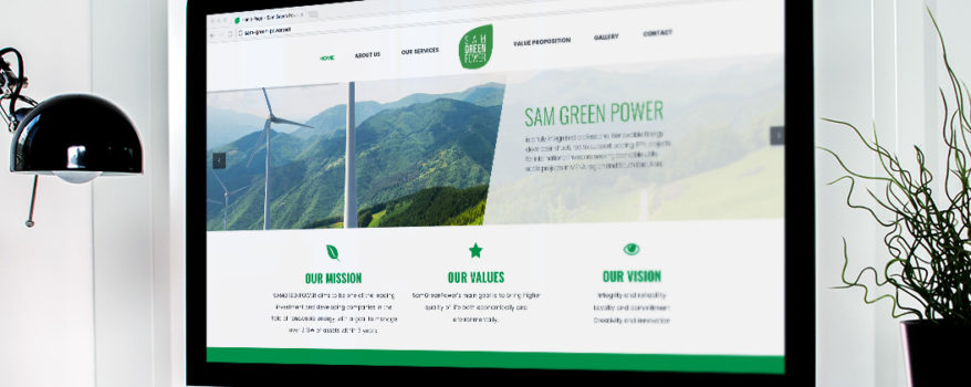 Sam Green Power - Gréation Site internet Logo Communication