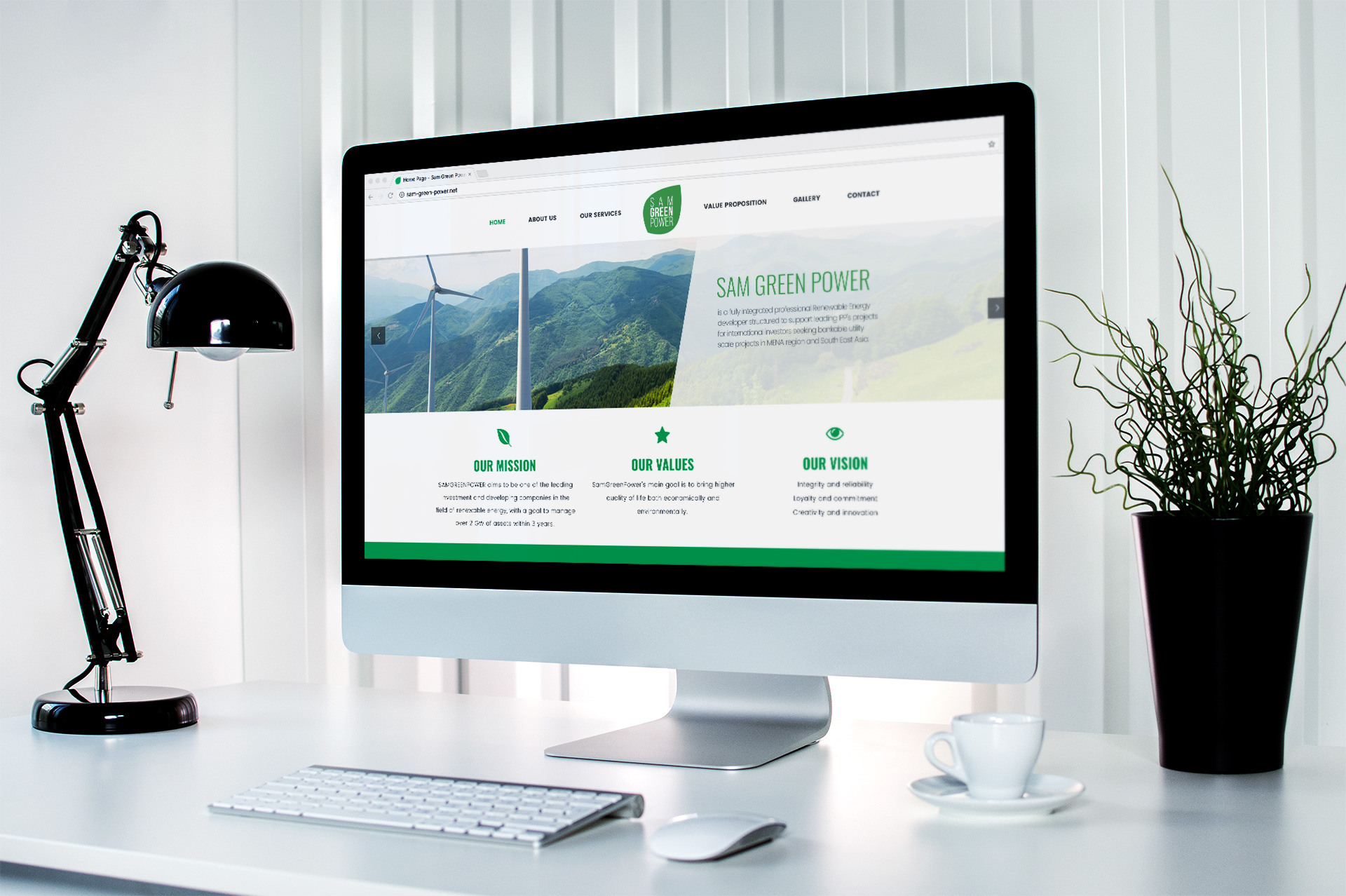 Sam Green Power - Gréation Site internet Logo Communication