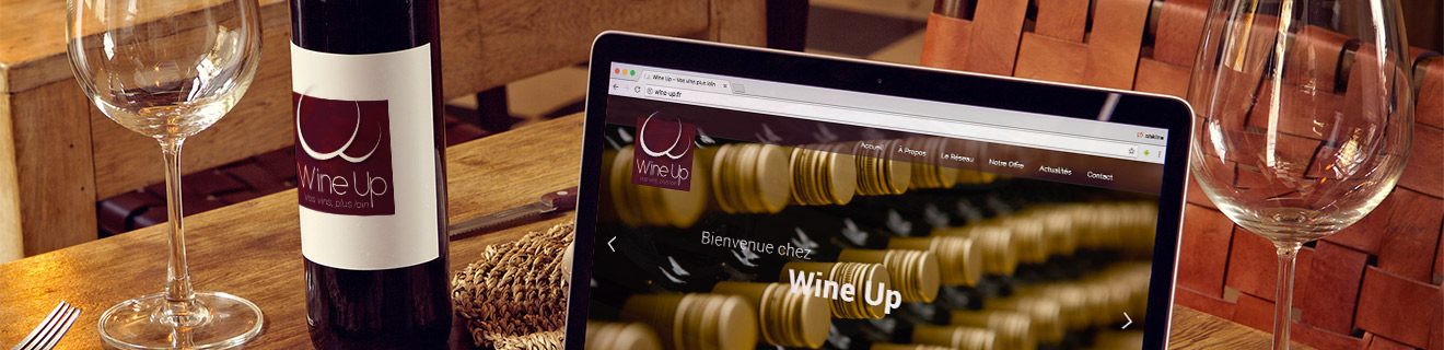 Wine Up - Création Site internet Logo Communication Flyer