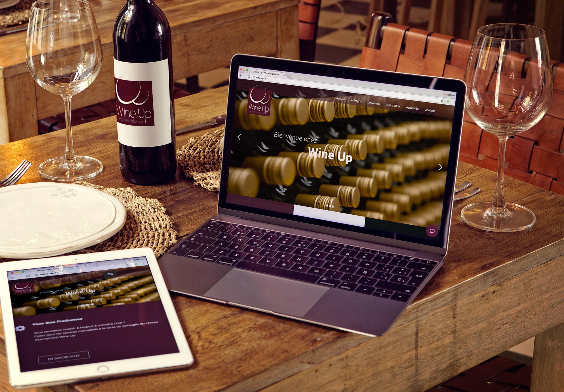 Wine Up - Création Site internet Logo Communication Flyer
