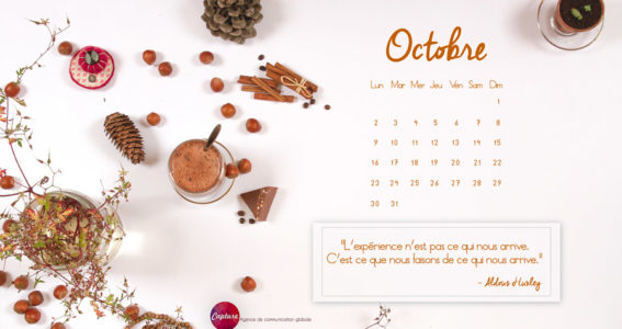 Fond d'écran Calendrier Octobre 2017 Capture Communication