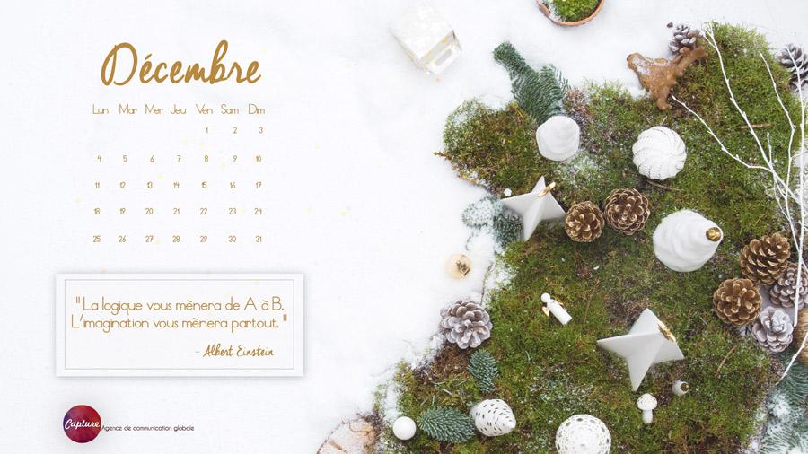 Fond d'écran Calendrier Décembre 2017 Capture Communication