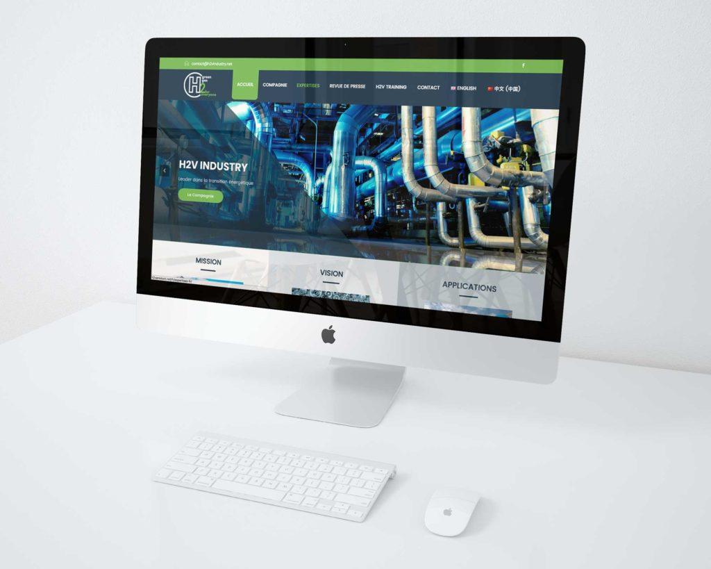 Création Site Internet Logo H2V Product Caen