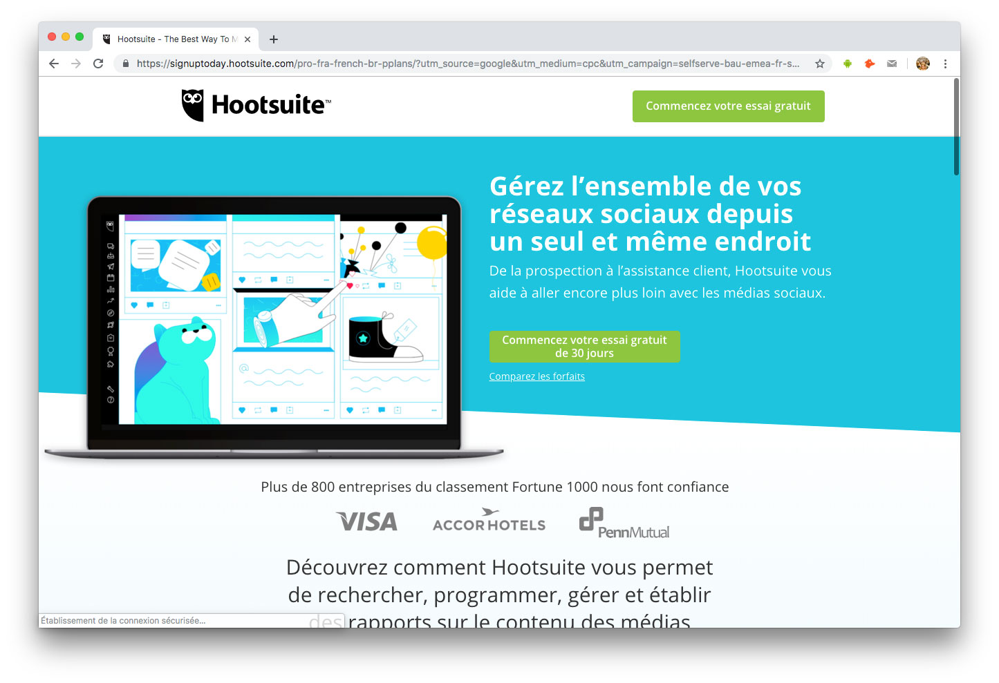 Influenceurs Marketing Influence outils Hootsuite