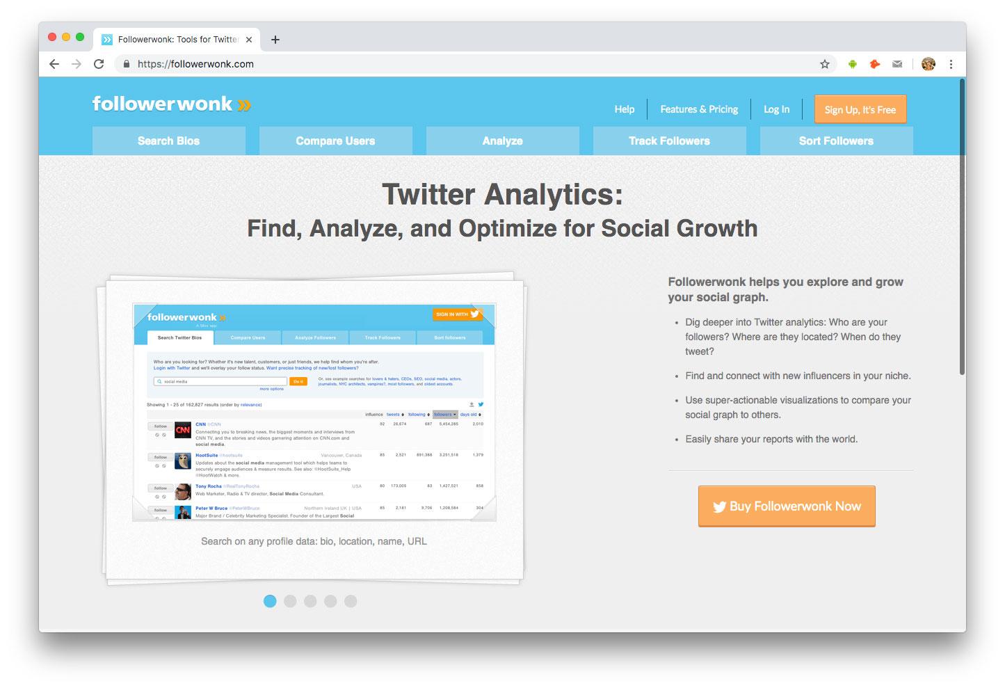 Influenceurs Marketing Influence outils Followerwonk