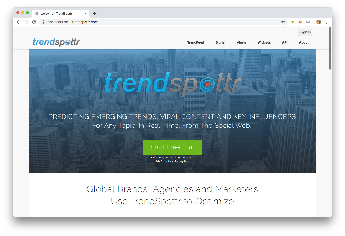 Influenceurs Marketing Influence outils Trendspottr